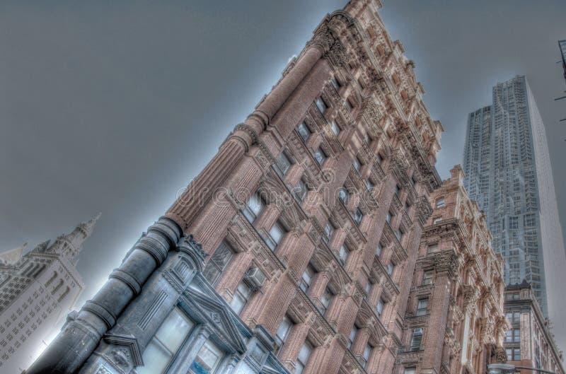 St d'angolo New York di Beekman di fila del parco fotografia stock libera da diritti