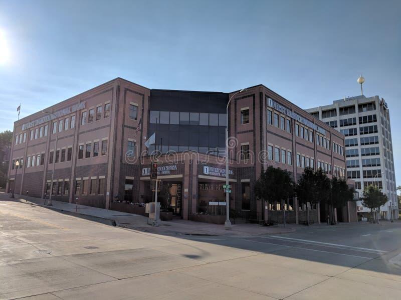 First Dakota National Bank. The 1st Dakota National Bank building in downtown Sioux Falls, South Dakota royalty free stock photos