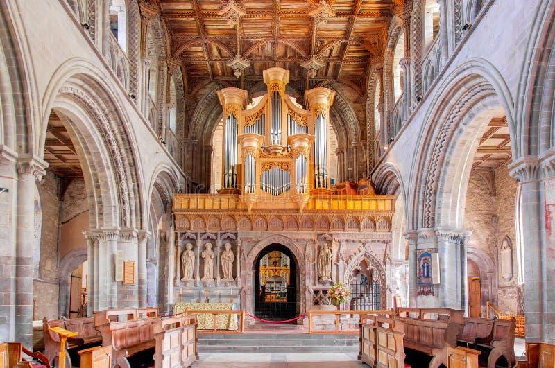 St. Davids Kathedraal, Wales, het UK royalty-vrije stock foto's