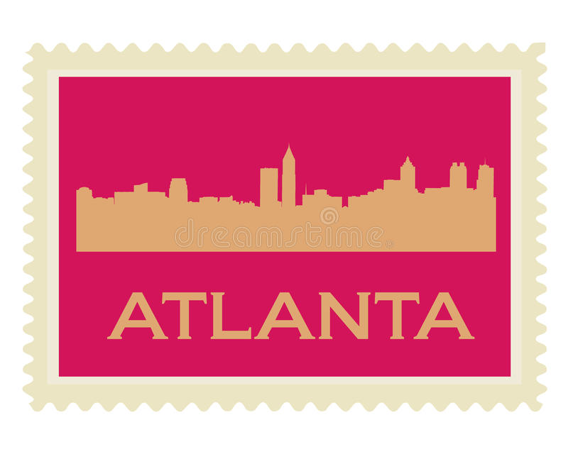 St de Atlanta ilustración del vector