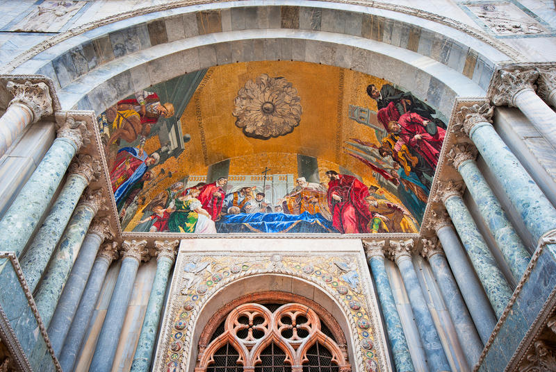 St de Basiliek van het Teken, Venetië, Italië stock foto