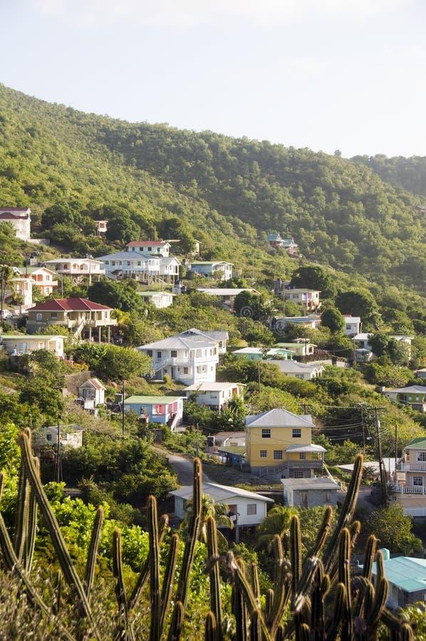St. de Bequia da montanha da vizinhança vincent imagens de stock