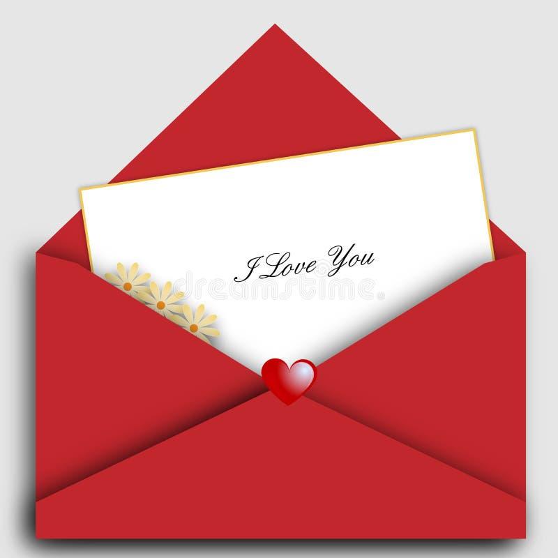 St De Brief Van De Valentijnskaart Stock Afbeeldingen