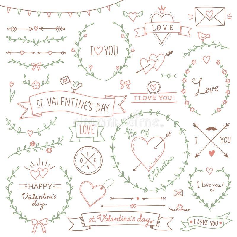 St de Dag van valentijnskaarten royalty-vrije illustratie