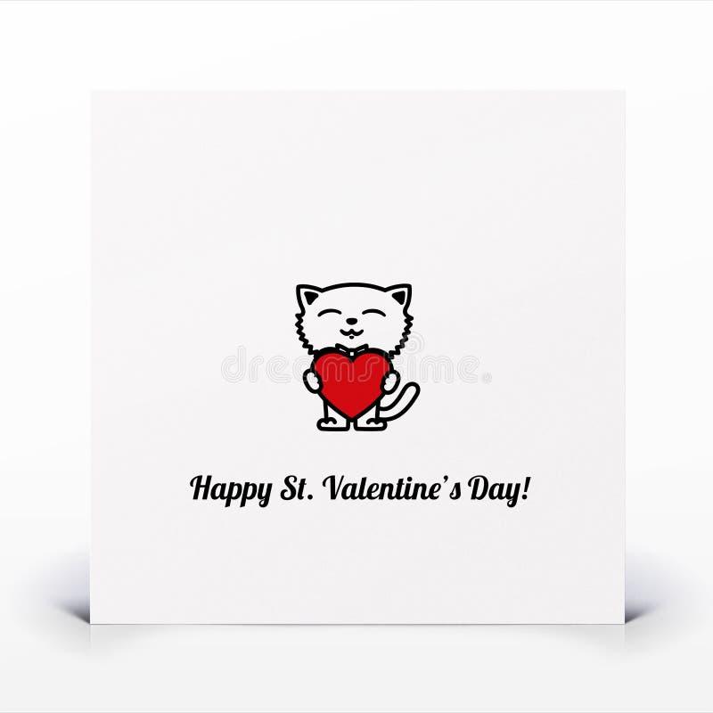 St. De Dagkaart Van Valentijnskaarten Stock Afbeeldingen