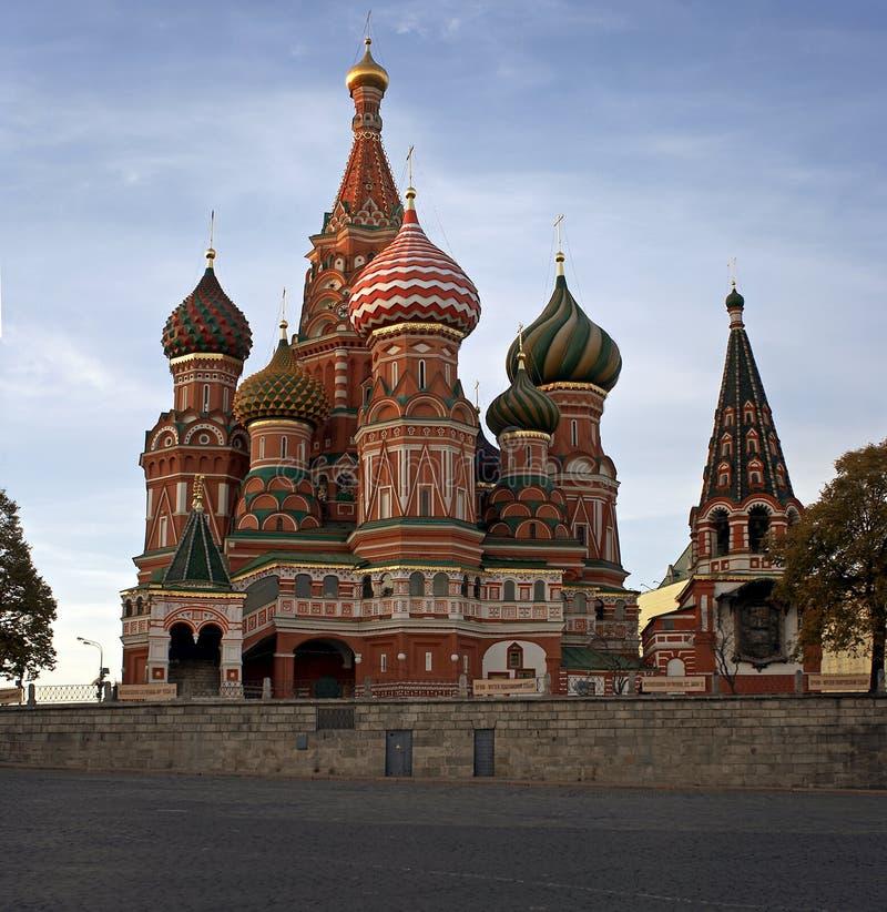 St. de Kathedraal van het basilicum in Moskou, Rusland stock afbeelding