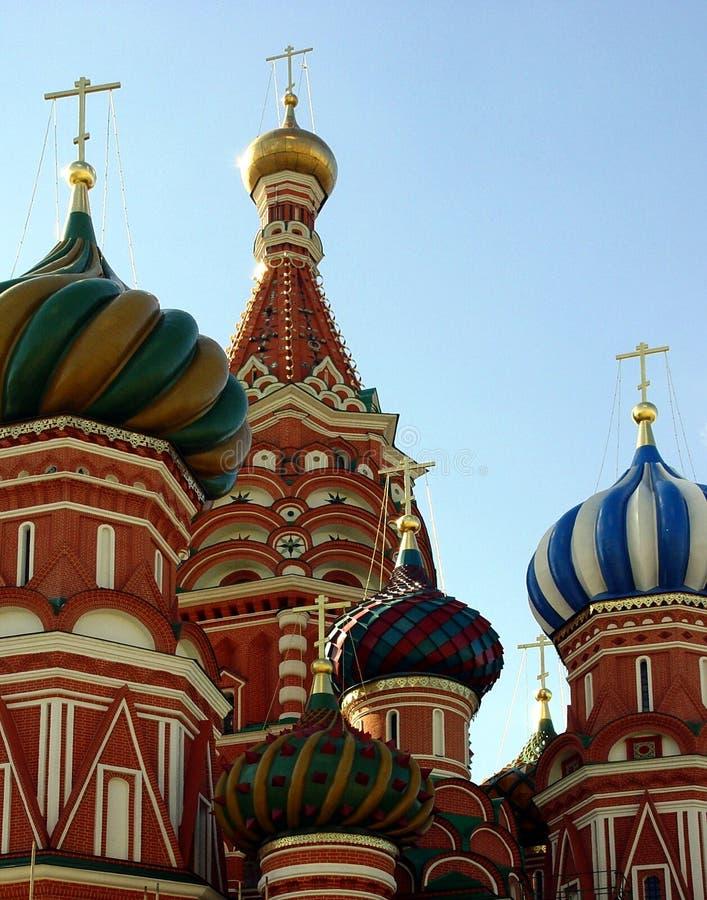 St. de Kathedraal van het basilicum, Moskou, Rusland stock foto