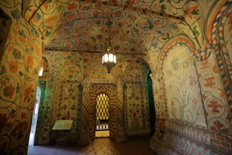 St de Kathedraalbinnenland van het Basilicum Moskou, Rusland stock fotografie