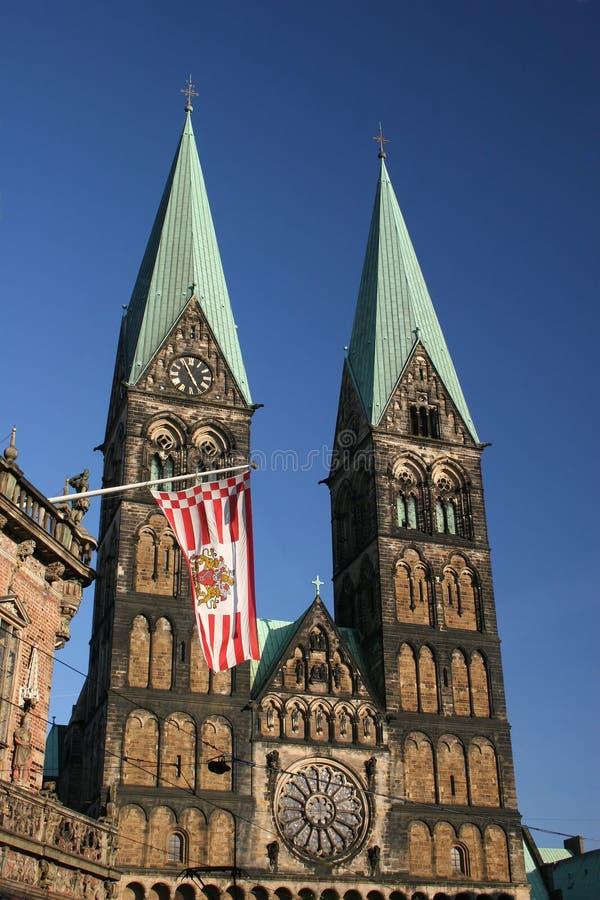 St. de la iglesia - Petri-Dom en Bremen imagen de archivo libre de regalías