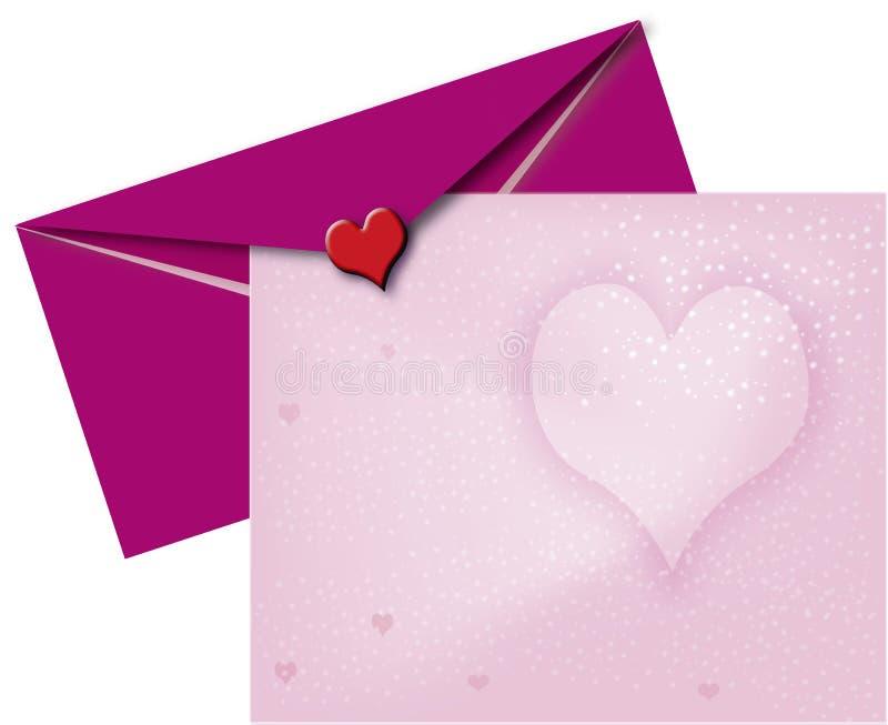 St de uitnodiging van de Valentijnskaart stock illustratie