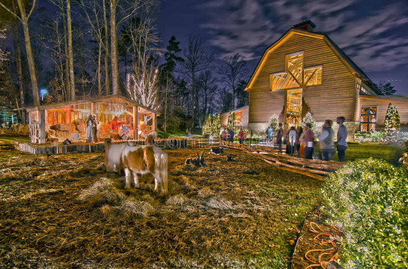 21st december 2013, charlotte, nc - christmas celebration at billy graham library stock photography