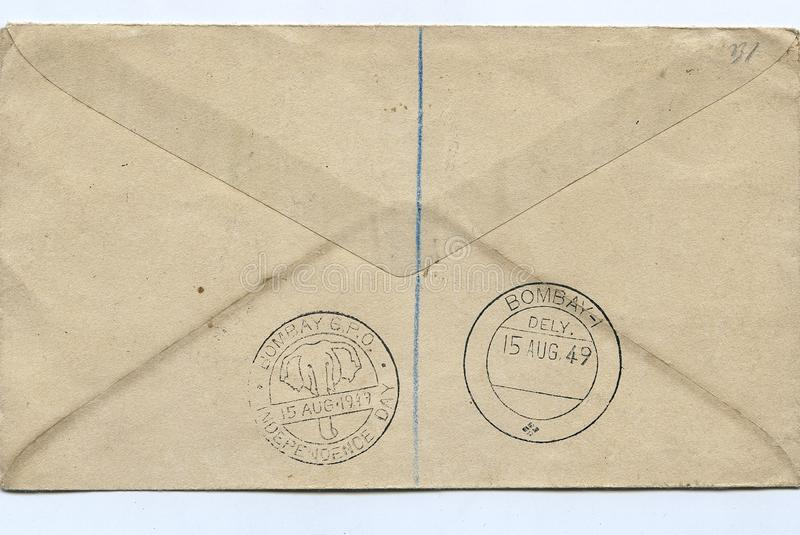 1st Definitive Series First Day Cover depicting Archaeological & Historical Object- 15 Aug.1949 stock photos