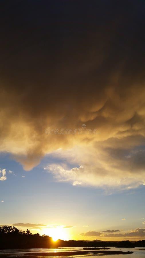 St del cielo di estate il Rio Grande immagini stock