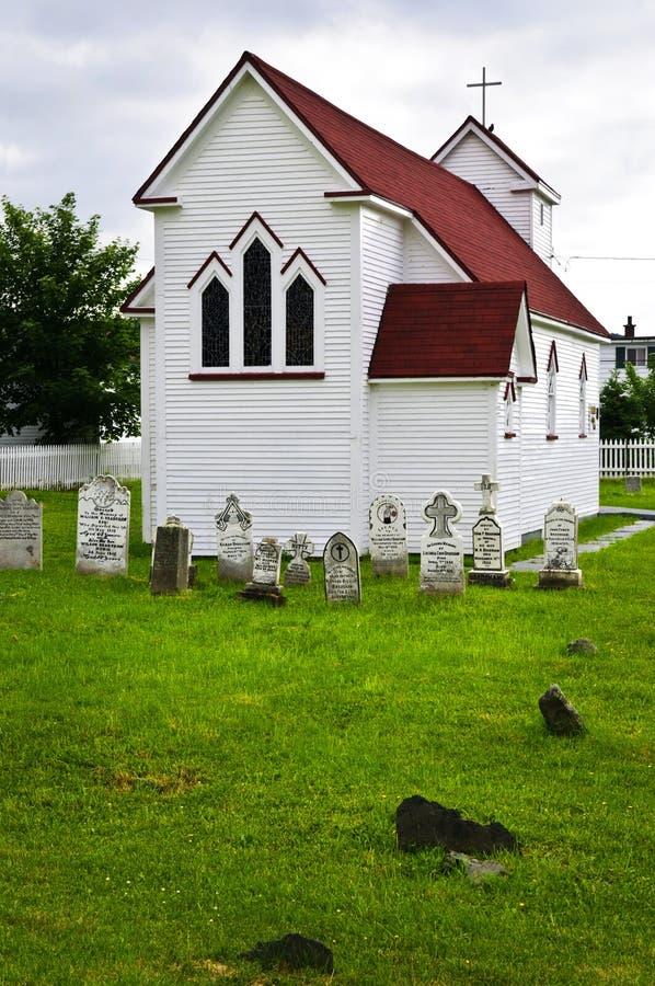 st di placentia s del luke della chiesa del cimitero fotografia stock