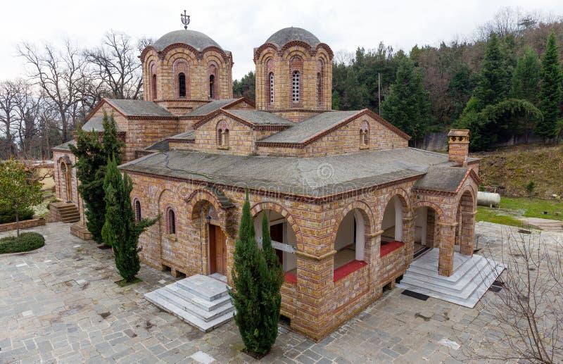 St Dionysios Klooster, Litochoro, Griekenland royalty-vrije stock afbeelding
