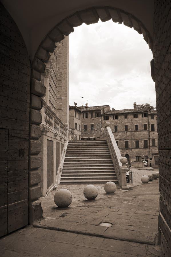 St. Domenico Church. Perugia. Umbrië. stock afbeelding