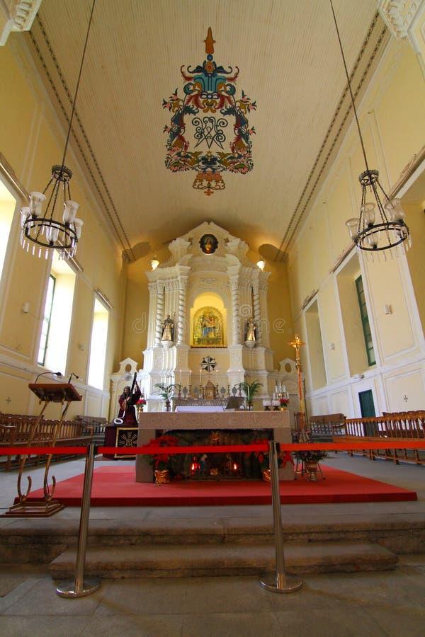 St Dominic Church Macau royalty-vrije stock afbeelding