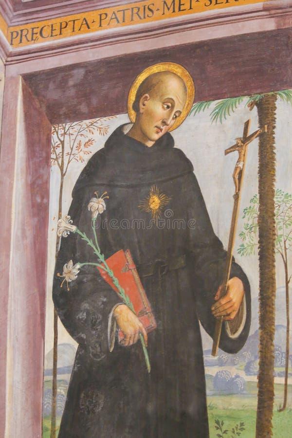 St Dominic - igreja de Sant Agostino em San Gimignano imagem de stock royalty free