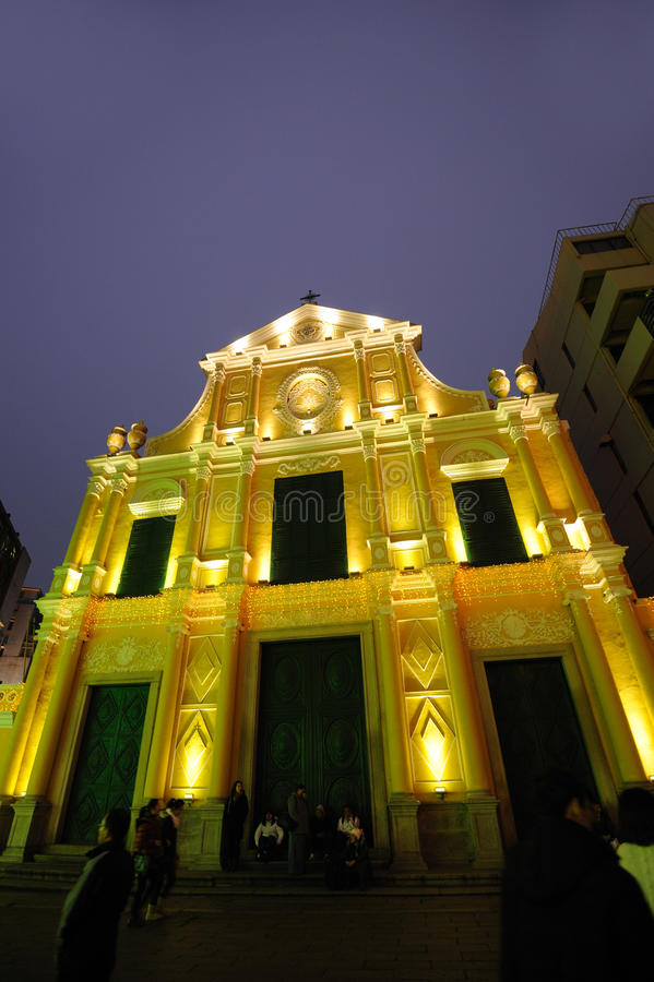 st dominic macau церков стоковые изображения rf