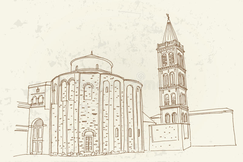 ST Donat στο ρωμαϊκό φόρουμ, Zadar, Κροατία στοκ φωτογραφία με δικαίωμα ελεύθερης χρήσης