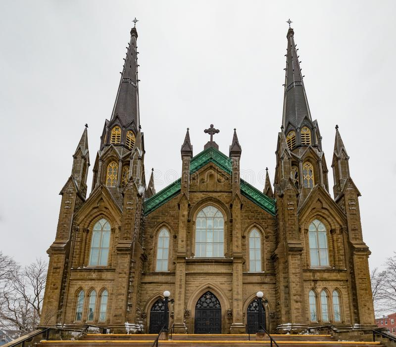 St Dunstan Basilica i Charlottetwon PEI Canada arkivbild