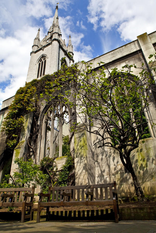 East London: St Dunstan-in-the-East Church In London Stock Image