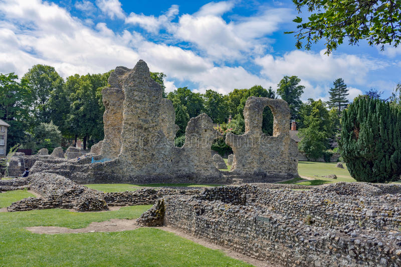 St Edmunds del entierro en Suffolk fotos de archivo