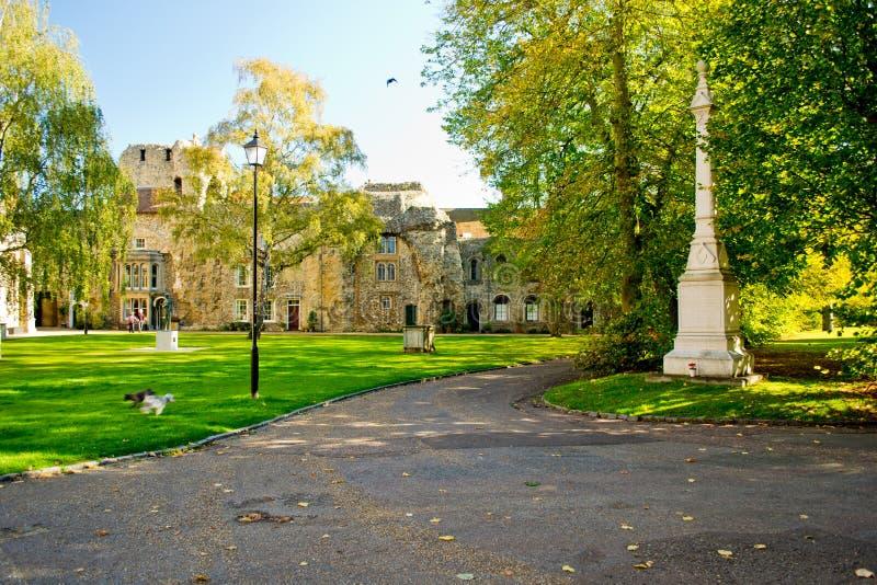 St Edmundstry de tuin van kathedraalAbby royalty-vrije stock foto