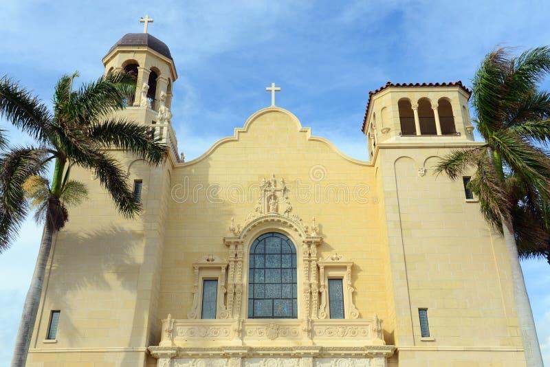 St Edward kościół rzymsko-katolicki, palm beach, Floryda fotografia royalty free