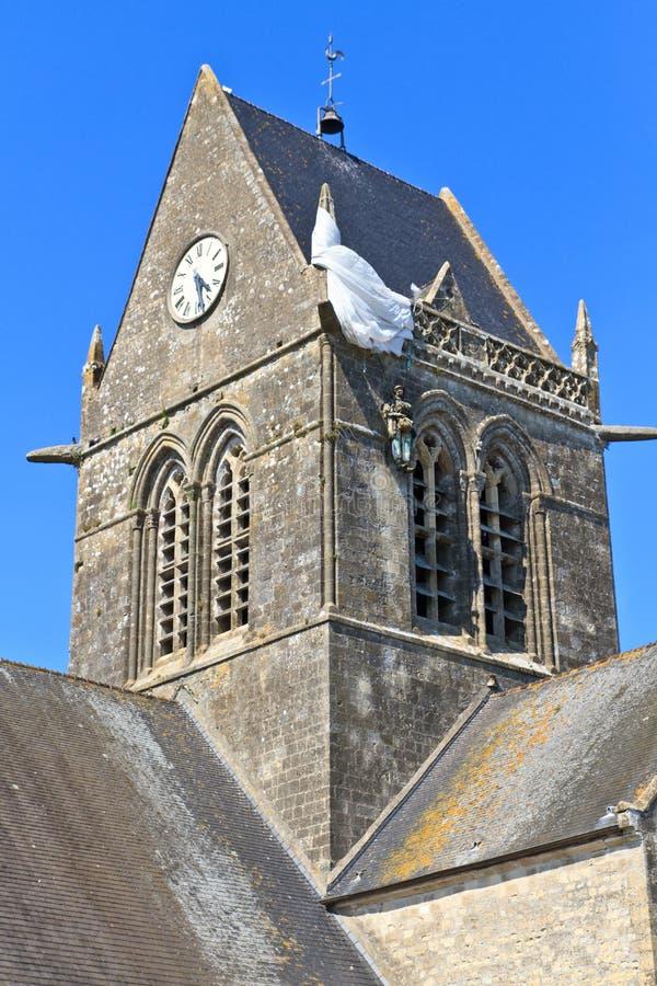 St. Eglise mero, Normandía, Francia imagen de archivo