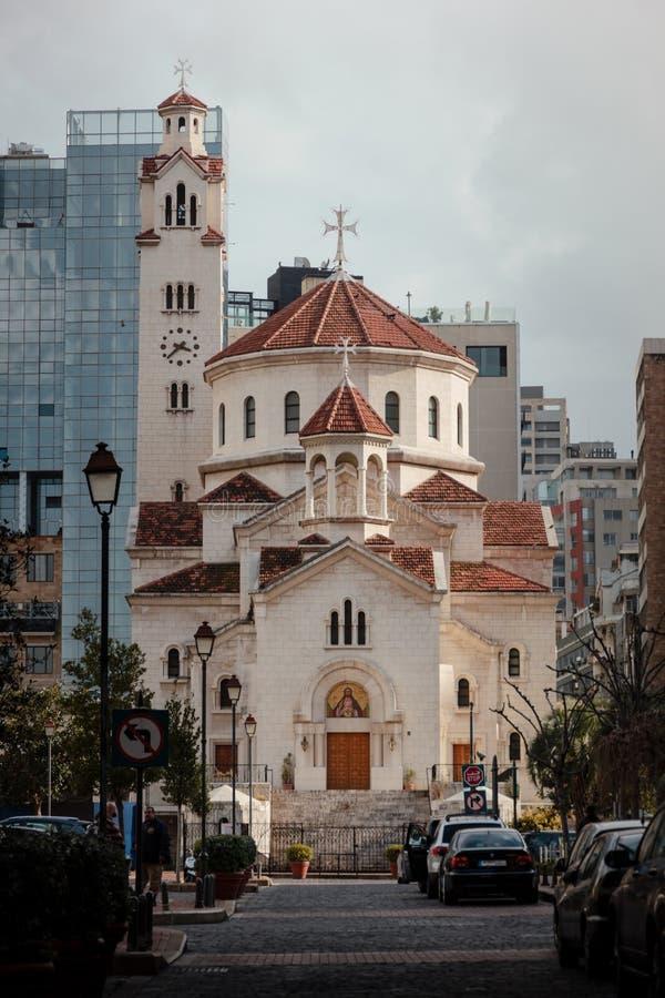 St Elias Cathedral em Beirute imagem de stock royalty free