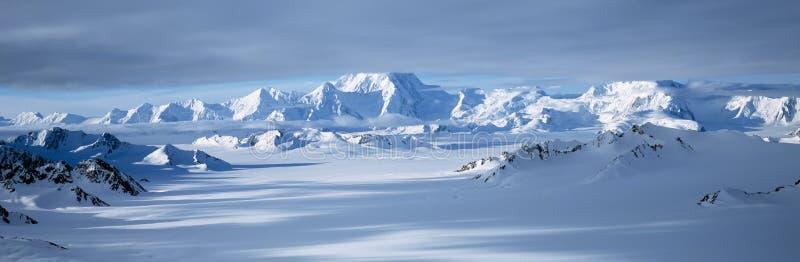 St. Elias National Park,. Mountains and glaciers in Wrangell-St. Elias National Park, Alaska stock image