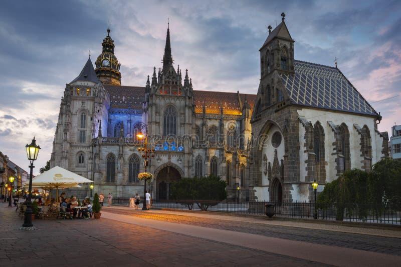 St Elisabeth Cathedral en Kosice foto de archivo