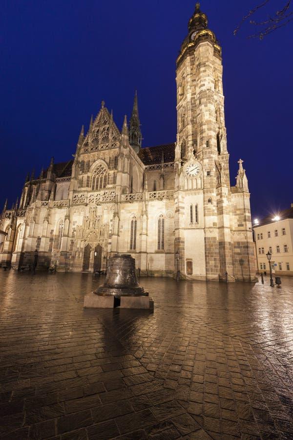 St Elisabeth Cathedral i Kosice royaltyfria foton