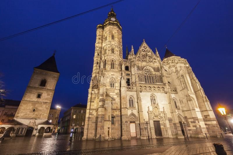 St Elisabeth Cathedral i Kosice arkivfoto