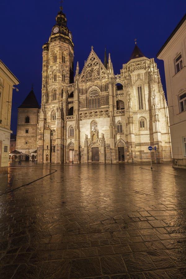 St Elisabeth Cathedral i Kosice royaltyfri foto