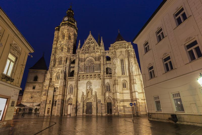 St Elisabeth Cathedral i Kosice royaltyfri bild