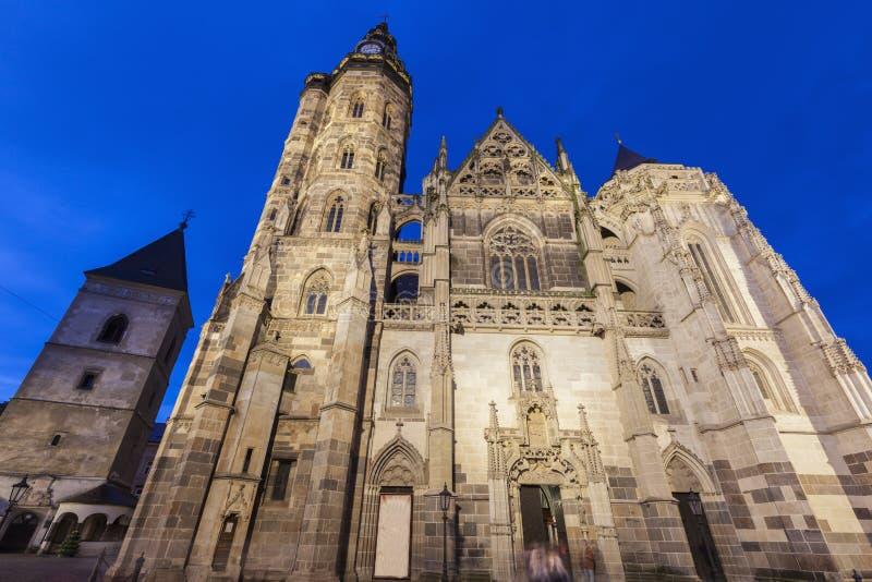 St Elisabeth Cathedral i Kosice arkivfoton