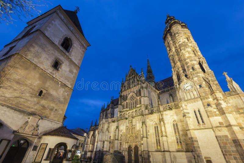 St Elisabeth Cathedral i Kosice arkivbild