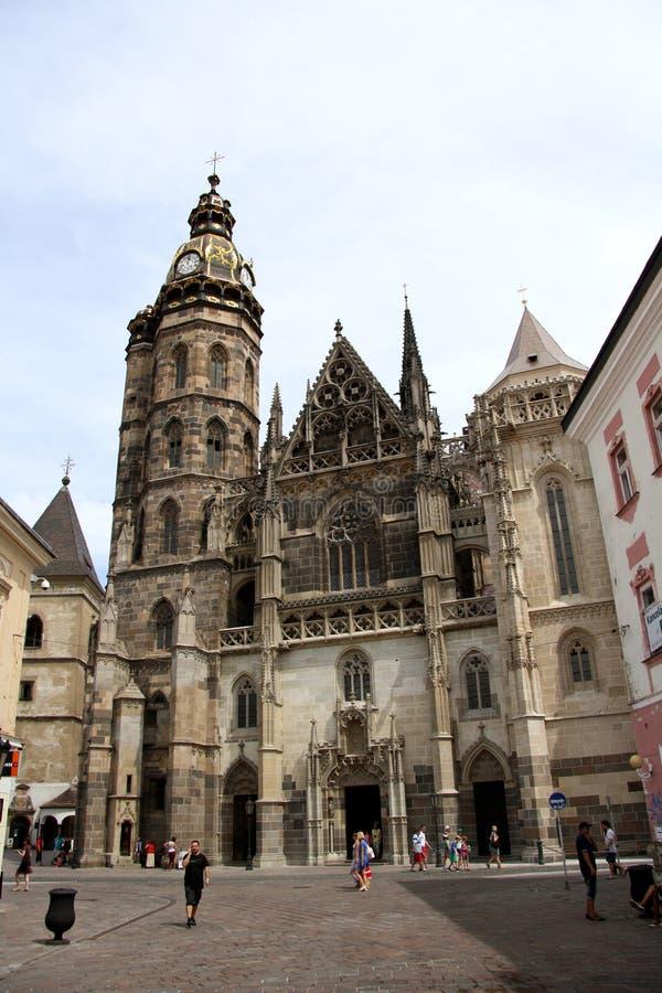 St. Elisabeth Cathedral i Kosice (Slovakien) arkivfoton