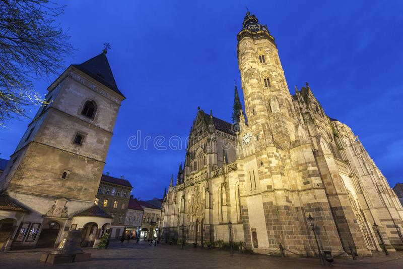 St Elisabeth Cathedral a Kosice fotografia stock