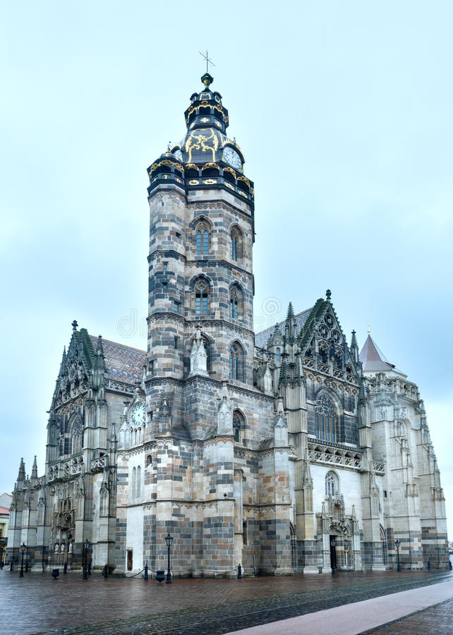 St. Elisabeth Cathedral (Kosice, Slovakia) stock images