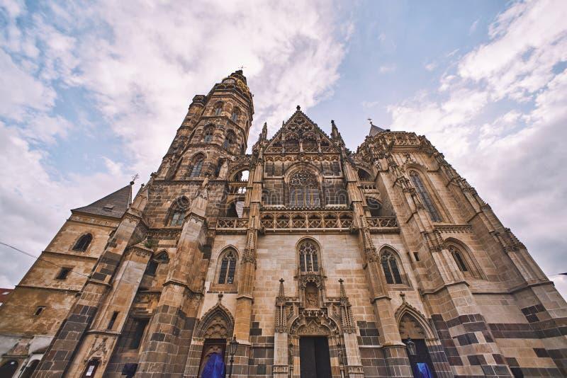 St Elisabeth Cathedral in Kosice, Slowakije stock afbeelding