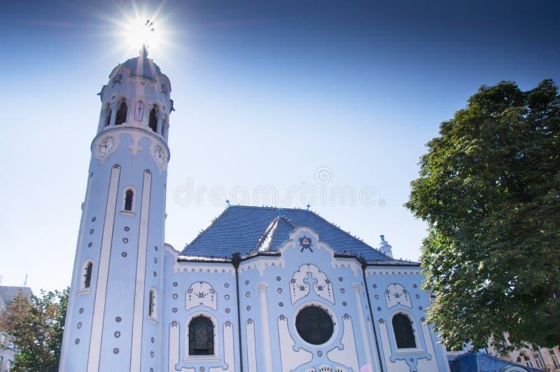 St. Elisabeth Church. With a halo royalty free stock photos