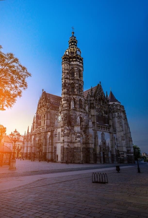 St Elisabeth katedra, Kosice, Sistani obraz royalty free