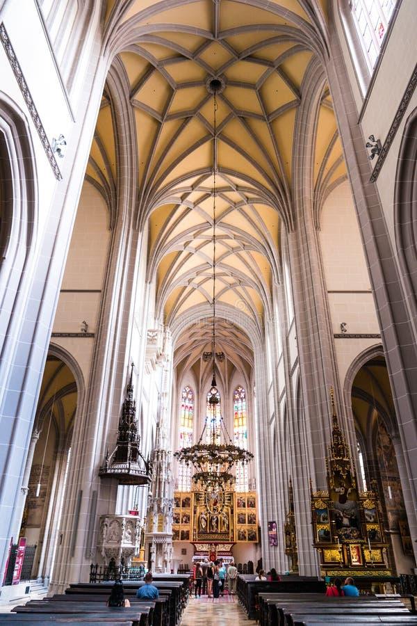 St Elisabeth katedra w Kosice inside fotografia royalty free