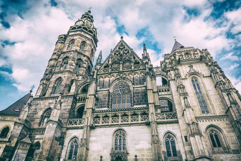St Elisabeth katedra w Kosice, Sistani, analogowy filtr fotografia stock