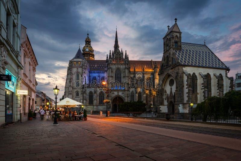 St Elisabeth katedra w Kosice obrazy royalty free