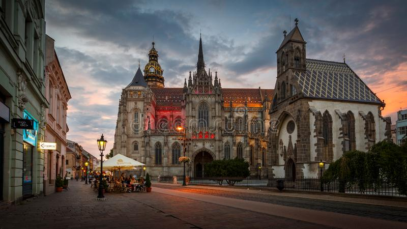 St Elisabeth katedra w Kosice obraz royalty free