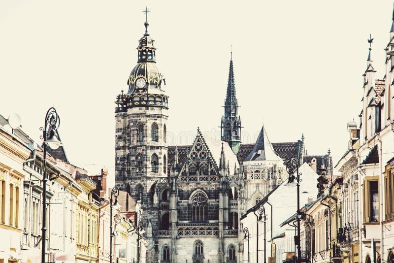 St Elisabeth katedra w Kosice, Sistani, sztuka filtr fotografia royalty free